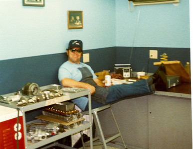 Bob Watkins in a familiar pose after completing a DFX strip.