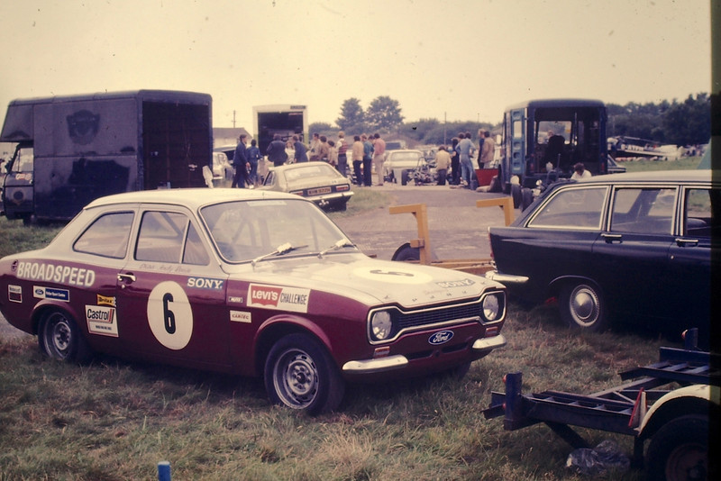 Andy's Broadspeed sponsored Escort Mexico in the Paddock at Castle Combe
