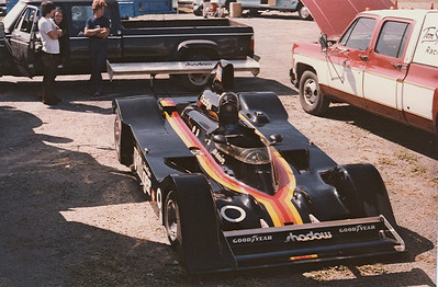 Here the car is unloaded at Laguna Seca for the 1978 Can Am race