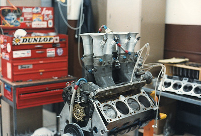 Here I am changing cylinder heads ready to do dyno evaluation.