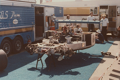 The Lola chassis was the big competition with Chevy engines, here is George Folmers car