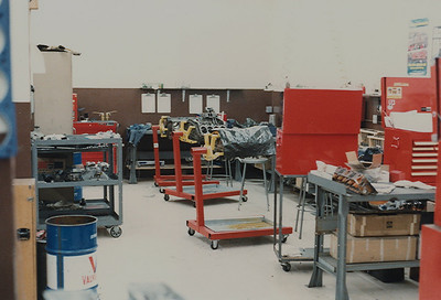The engine assembly area