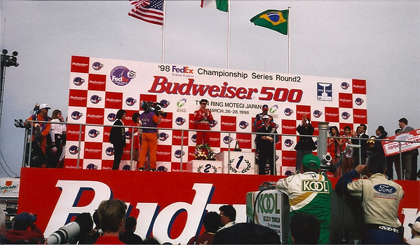 Adrian Fernandez won the race in 1998 for Ford/Cosworth for the 3rd time