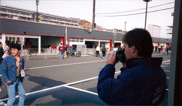 Brian Farrel takes a shot of the pit action area