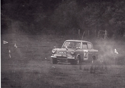 Ian Competing in a Autocross at Ross on Wye held by Ross Motor Club. I recorded fast time the first run but got beaten by a full rally prepared Lotus Cortina with limited slip in the finals.