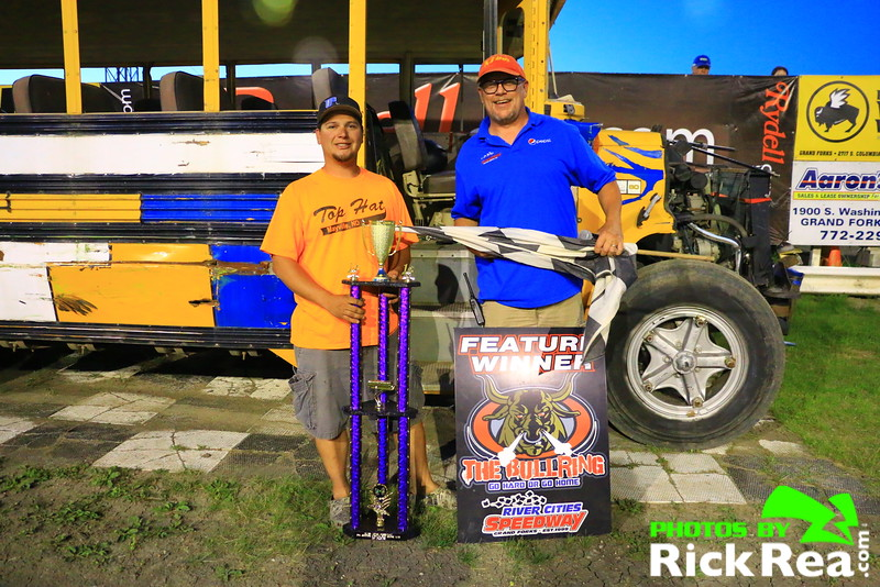 Wes Rosinski Wins The School Bus A Main Feature Race at The World Famous Legendary Bullring River Cities Speedway