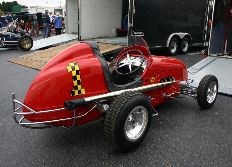 Rear view of a classic Kurtis Kraft Midget.