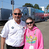 Bayley with Bobby Rahal. He was there for 2 reasons. First, he owns an ALMS team, second, he was obviously there to see Graham run on Sunday