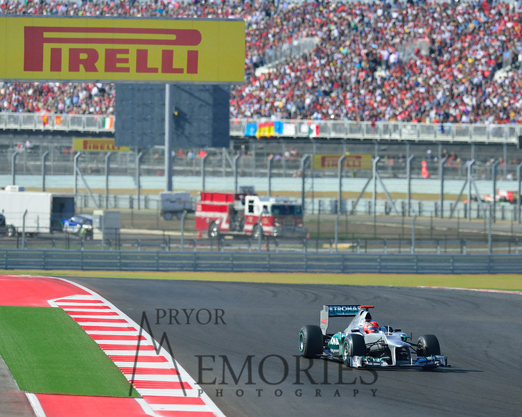 Michael Schumacher driving the Mercedes AMG Petronas #07 car
