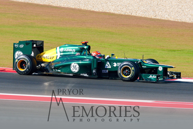 Heikki Kovalainen driving the #20 Caterham