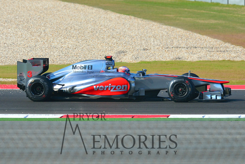 Jensen Button driving the #03 McClaren Mercedes