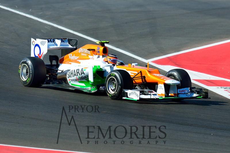 Nico Hulkenberg driving the #12 Sahara Force India car