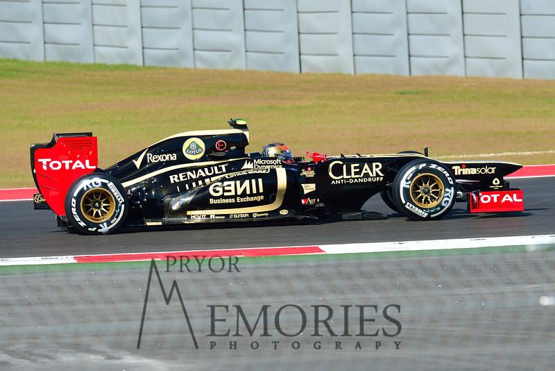 Romain Grosjean driving the #10 Lotus