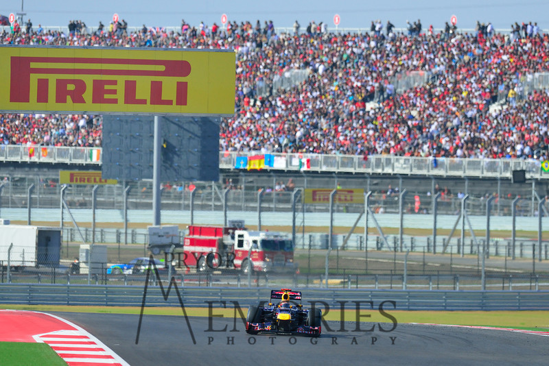 Red Bull Racing's Sebastian Vettel driving the #01 car.