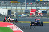 HRT's Narain Karthikeyan working to close the distance on Scuderia Toro Rosso's Dianiel Ricciardo