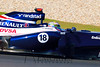 Pastor Maldonado in the #18 Williams