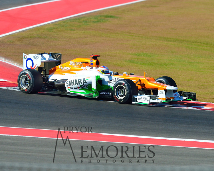 Paul Di Resta driving the #11 Sahara Force India car