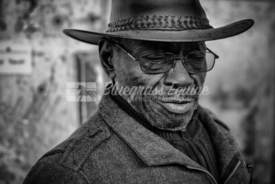 """Cowboy"" Cowboy has been working 53 years on the backside. He is 83 years old and next week he is leaving and moving to Colorado outside Denver to manage a ranch. Thoroughbred Training Center, Lexington Kentucky 11.23.18. Photo by Laura Palazzolo"