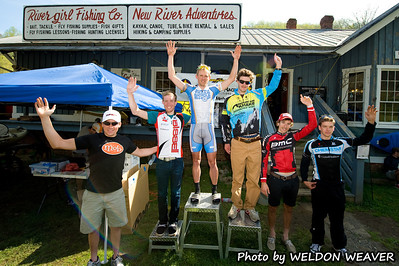2011 Boone-Roubaix.  Men's podium.  Sheedy first, Livermon second, Baker third, Werner fourth, Bezdek fifth, Housley sixth.