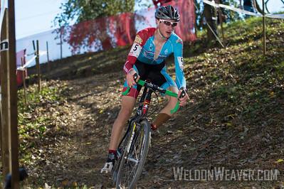 Stephen Bassett (Bob's Red Mill Cyclocross), 17, Knoxville, TN 2012 USGP Louisville.  Photo by Weldon Weaver.