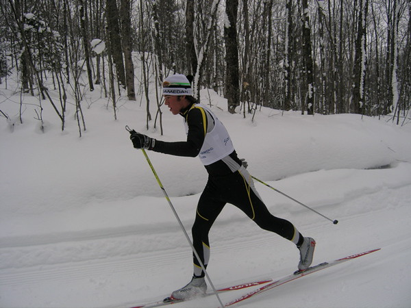 Mac Brennan gets 2nd place in the 7.5km classic.