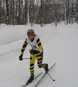 Emily Westerman finishes 2nd in the 7.5 km Classic.