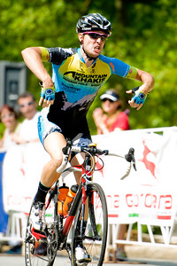 Jerome Townsend, Stage 5 winner, .  August 7, 2011 Crossroads Classic Stage 5 Criterium Salisbury, NC. Photo by Weldon Weaver