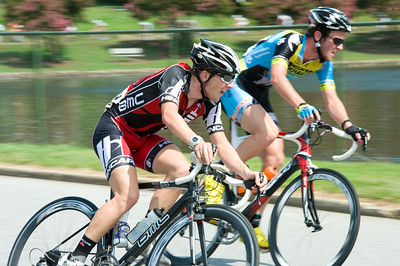 Around the lake.  August 7, 2011 Crossroads Classic Stage 5 Criterium Salisbury, NC. Photo by Weldon Weaver