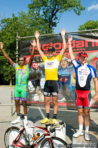 Omnium Podium,  August 7, 2011 Crossroads Classic Stage 5 Criterium Salisbury, NC. Photo by Weldon Weaver