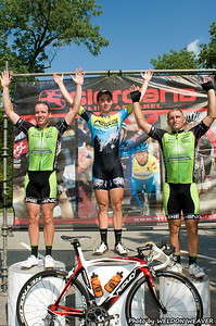 Stage 5 podium. August 7, 2011 Crossroads Classic Stage 5 Criterium Salisbury, NC. Photo by Weldon Weaver
