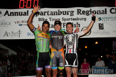 Men's series leaders: 1st place Carlos Alzate (Team Exergy). 2nd place Frank Travieso (Team Coco's).  3rd place Emile Abraham (Rossetti Devo Cycling Team). 2012 Spartanburg Regional Classic.