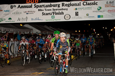 Carlos Alzate (Team Exergy) at the front. 2012 Spartanburg Regional Classic.