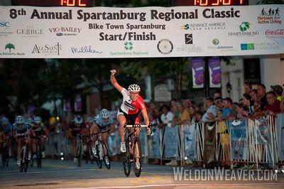 Erica Allar (Rideclean / Patentit.Com) wins the 2012 Spartanburg Regional Classic.