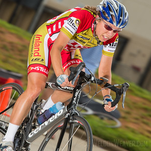 Amie Krasnozon.  2013 NC State Crit Championships.  Kernersville, NC.  Photo by Weldon Weaver.