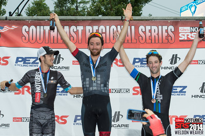 Men Pro 1/2 podium.  2014 SRS Greenville.  Photo by Weldon Weaver.
