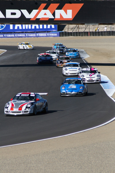 Porsche GT3 Cup Race at Laguna Seca