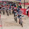 Chase Cummings (Santa Cruz Composite) leads the pack in the JV Boys (D2) start. (photo: Matthew Toynton