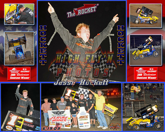 Jesse Hockett WINNER 2009 Budweiser Shootout US 36 Raceway 6-19-2009