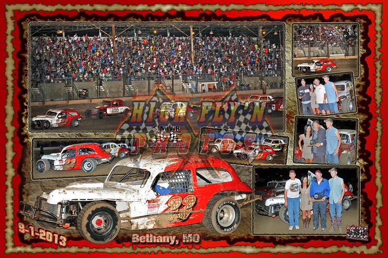 24 X 36  9 -1 - 2013  Vintage Bethany MO Clevenger WINNER Horizontal  background red  burnt edges 2013