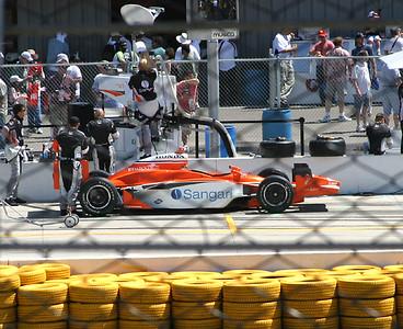 Jaime Camara's car and pit
