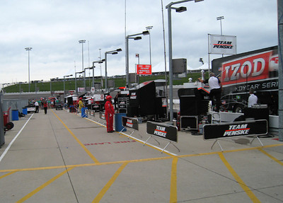 The inside of pit road.
