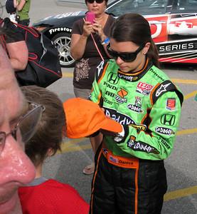 Danica Patrick autographing my nephew Joey's hat, 19 June 2010