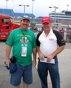I ran into my old friend Al Unser Jr. down in the garage area.