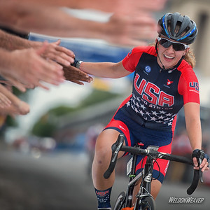 Emma White gets second place in the junior women's race.  Richmond World Championships.  Photo by Weldon Weaver.
