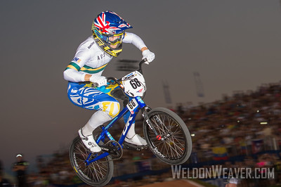 Multi-time World Champion, Caroline Buchanan (Australia) wins her Semi Final race en route to a silver medal the 2017 BMX World Championships in Rock Hill, SC (USA).