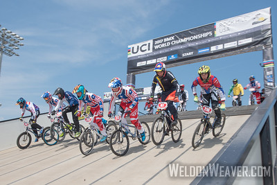 Cruisers compete at the 2017 BMX World Challenge in Rock Hill, SC (USA).