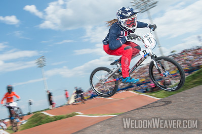 Alise Post (USA) wins a qualifying moto en route to winning the 2017 World Championship in Rock Hill, SC  (USA).