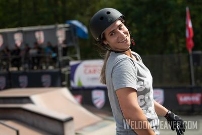 Natalya Diehm, second place. 2019 BMX Freestyle UCI C1. Cary, NC. USA. Photo by Weldon Weaver.