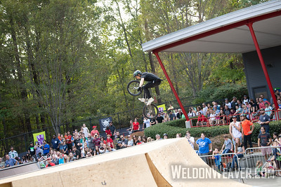 Bryce Tryon, second place. 2019 BMX Freestyle UCI C1. Cary, NC. USA. Photo by Weldon Weaver.