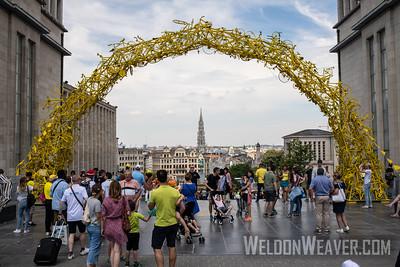 Bike Art. 2019 Tour de France. Stage 1 Brussels. Photo by Weldon Weaver.